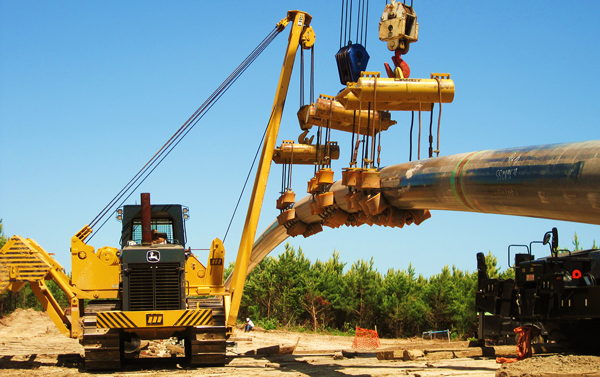 Pipeline Lift with Dragline